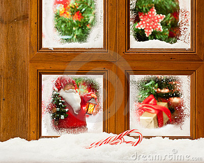 Frosty Christmas Window