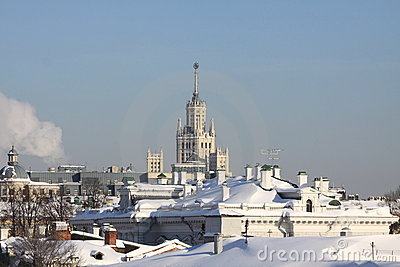Frosty day in Moscow