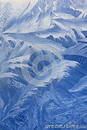 Free Frosty Pattern On Window Stock Photo - 45741580