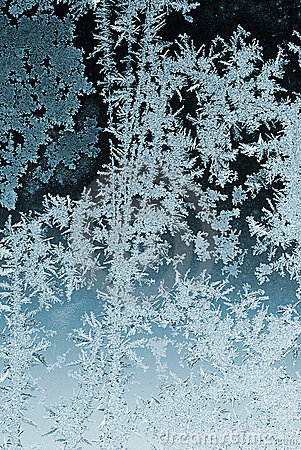 Free Frosty Pattern On Window Glass Stock Photos - 12266723