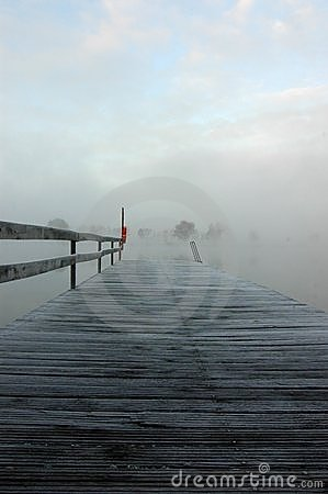 Frosty Pier on a Lake