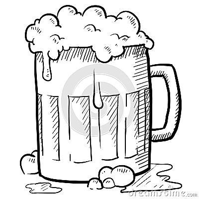 Frothy beer mug