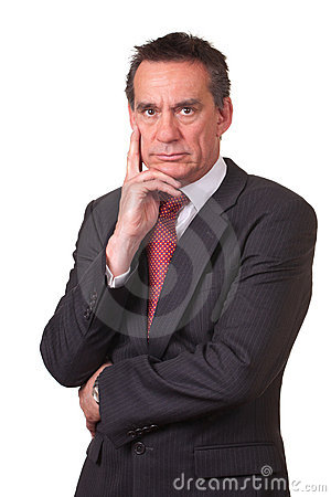 Frowning Angry Business Man in Suit