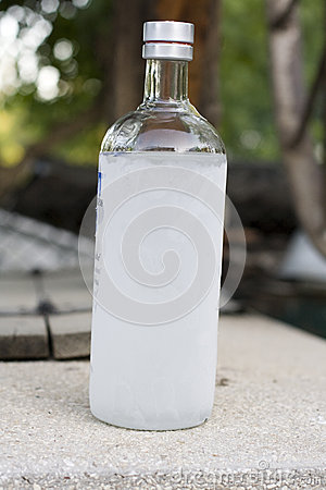Frozen bottle