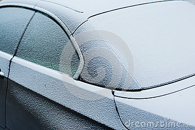 Frozen car detail