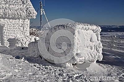 Frozen car at winter