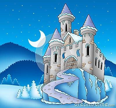Free Frozen Castle In Winter Landscape Stock Image - 11370751