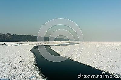Frozen coastal sea