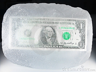 Frozen Currency, Economic Downturn, Recession