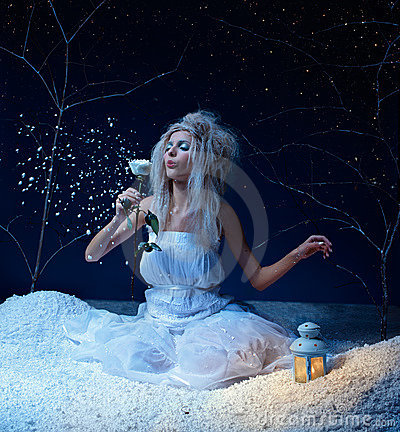 Free Frozen Fairy With Rose Stock Photos - 17019873