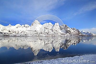 Frozen fjord s mirrors