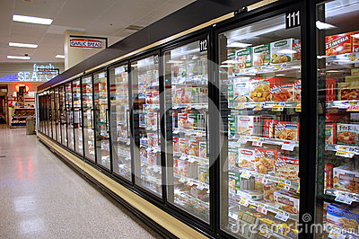 Frozen Food Aisle Editorial Stock Image