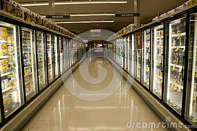 Frozen food in supermarket Editorial Photography