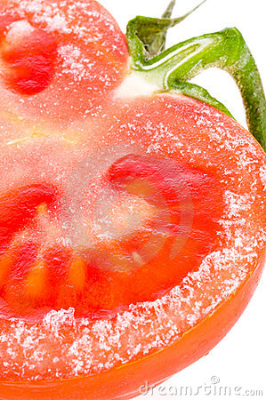 Frozen fresh tomato