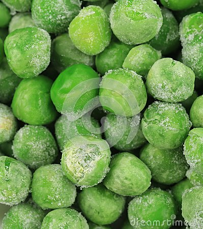 Frozen Green Peas as Background.