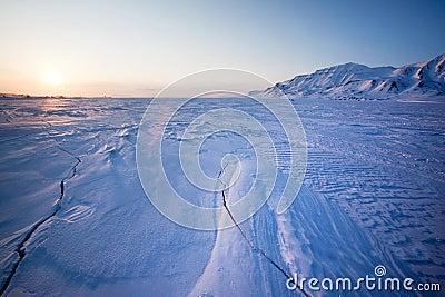 Frozen Ice Landscape