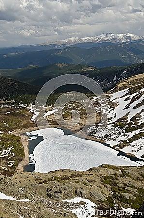 Frozen lake in Colorado