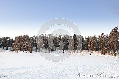 Frozen Lake in Inari, Finland