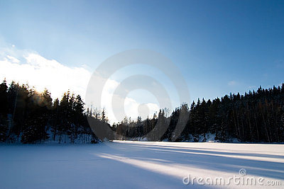Frozen Lake Landscape