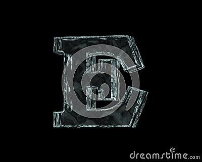 Frozen letter E