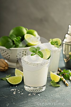 Free Frozen Lime And Mint Margarita Stock Images - 108752944