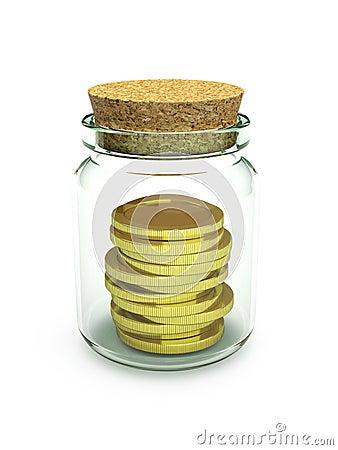 Frozen money / earnings / investment HQ 3d render