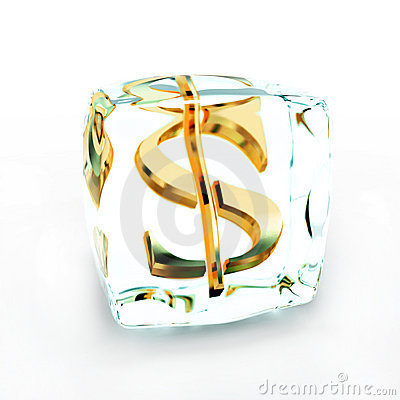 Frozen Money Symbol On White Royalty Free Stock Photo - Image: 2184985