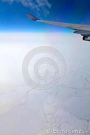 Frozen ocean, aerial view