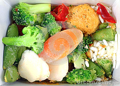 Frozen Orange Chicken and Vegetables