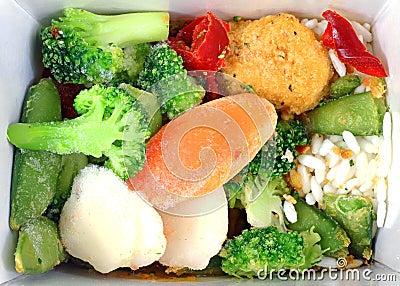 Frozen Orange Chicken and Vegetables