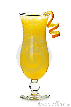 Frozen orange drink