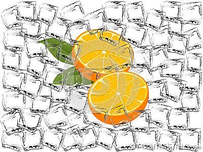 Frozen oranges