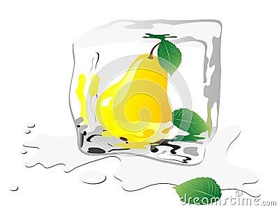 Frozen pear