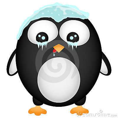Frozen penguin