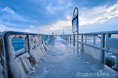 Frozen Pier II Editorial Photography