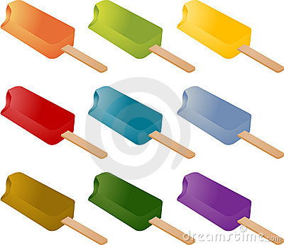 Frozen popsicle ice cream