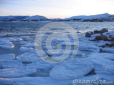 Frozen sea in the Arctic