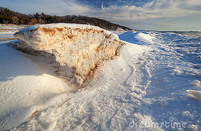 Frozen Shoreline of Lake Michigan