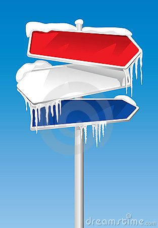 Free Frozen Signpost Royalty Free Stock Photo - 6578005