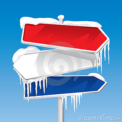 Free Frozen Signpost (vector) Stock Images - 3292954