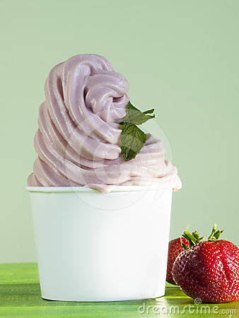 Frozen Soft Serve Yogurt.