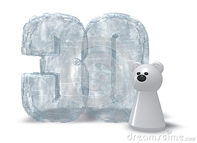 Frozen thirty and polar bear