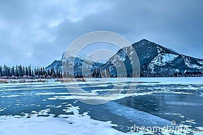 Frozen Vermilion Lakes, Banff National Park