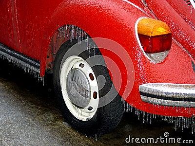 Frozen volkswagen