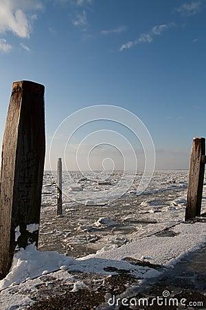Free Frozen Wadden Sea Royalty Free Stock Photo - 24822625