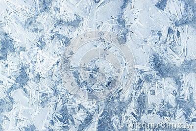 Frozen water texture background