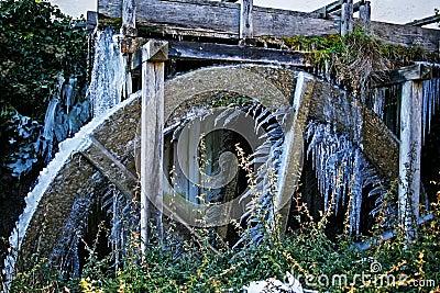 Frozen water wheel