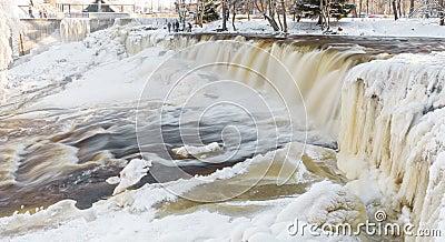 Frozen waterfall in Estonia