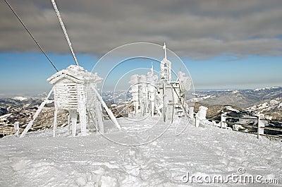 Frozen weather station