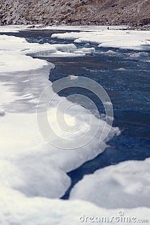 Free Frozen Zanskar River Royalty Free Stock Photos - 11451908